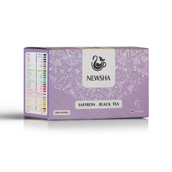 Newsha Saffron + Black Tea