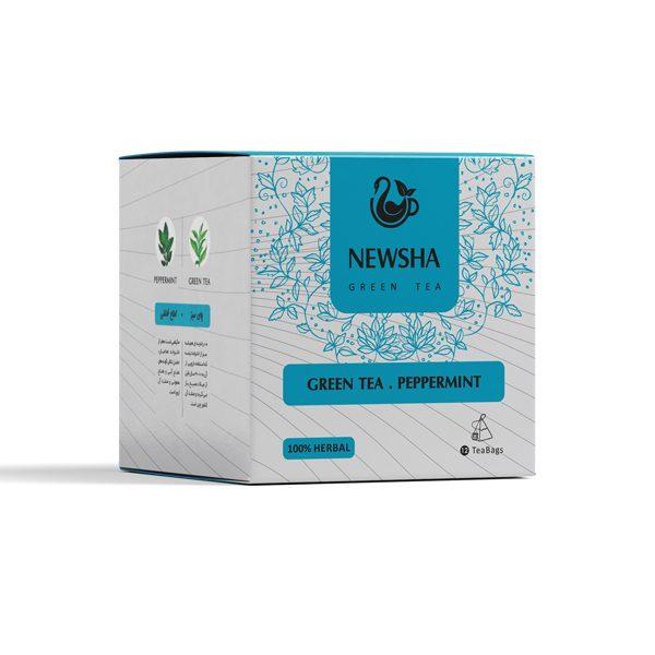 Newsha Peppermint + Green Tea (Pyramid Teabag)